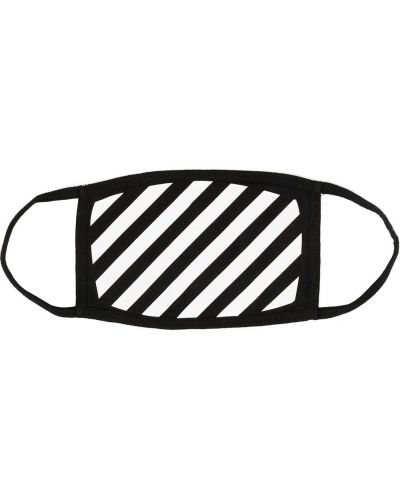 Bawełna czarny z paskiem bawełna maska do twarzy Off-white