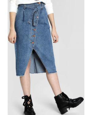 Юбка миди джинсовая с карманами Ostin