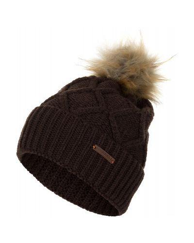 Вязаная шапка с помпоном шерстяная Merrell