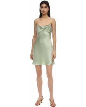 Платье мини атласное - мятное Bec & Bridge