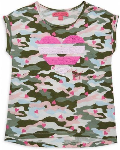 Розовый хлопковый топ с пайетками Betsey Johnson