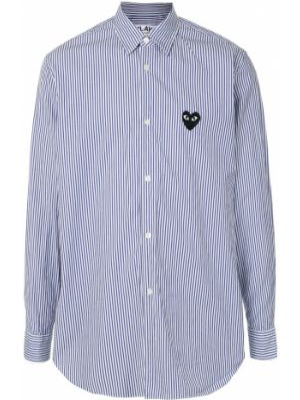 Черная рубашка с воротником с заплатками на пуговицах Comme Des GarÇons Play