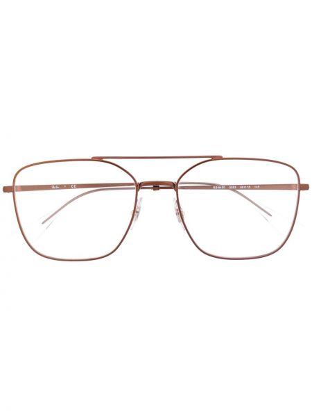 Chudy brązowy oprawka do okularów metal za pełne Ray-ban