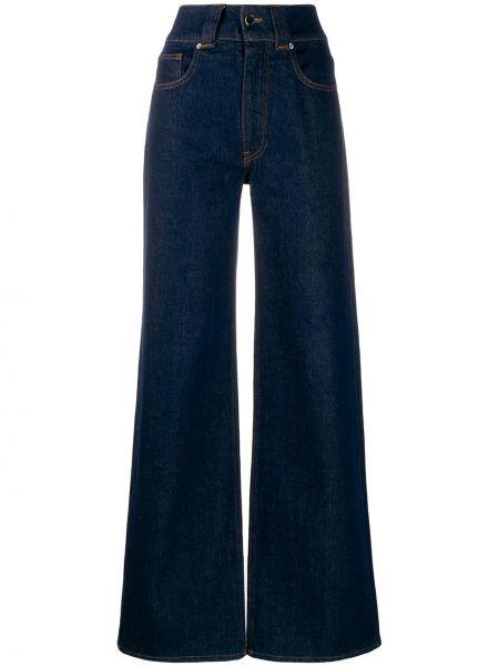 Расклешенные джинсы синие на пуговицах Victoria, Victoria Beckham