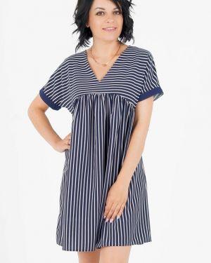 Платье мини с V-образным вырезом платье-сарафан Ajour