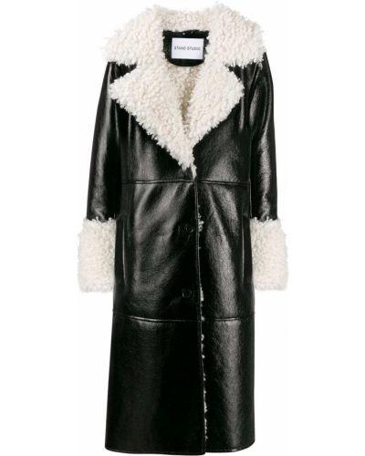 Черное длинное пальто Stand