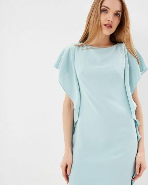 Бирюзовое вечернее платье Lauren Ralph Lauren