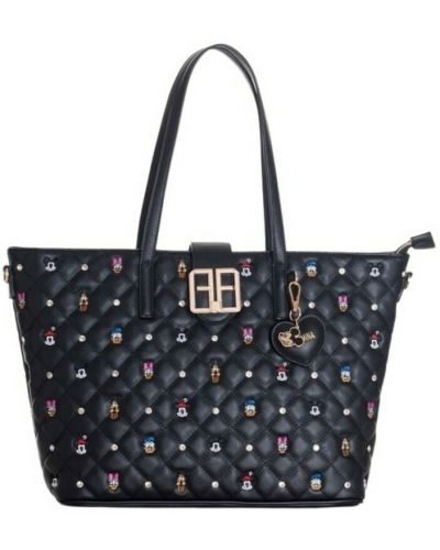 Czarna torba na zakupy Fracomina