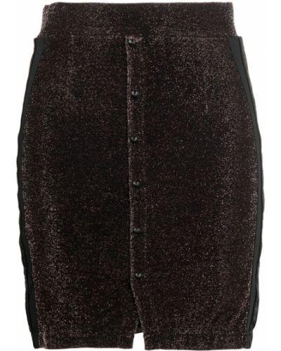 Черная прямая с завышенной талией юбка мини Kappa