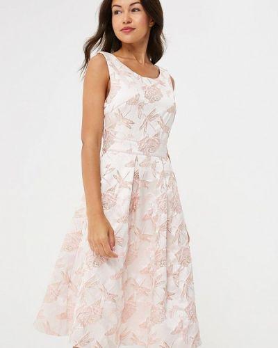 Розовое платье осеннее Yumi