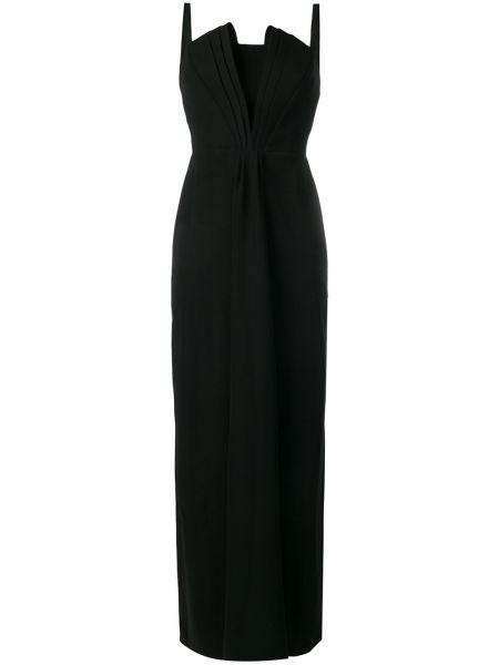 Вечернее платье на бретелях лаковые Emporio Armani