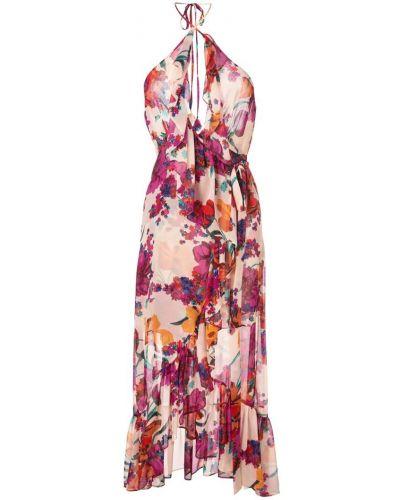 Платье розовое с открытой спиной Misa Los Angeles