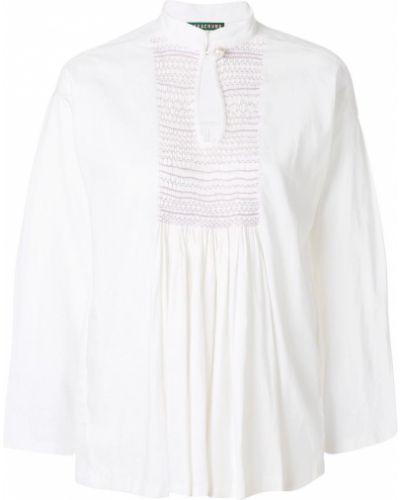 Блузка белая льняная Alexa Chung
