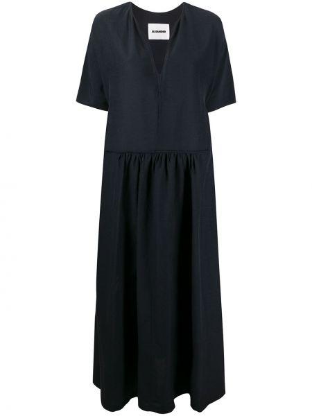 Платье мини макси с заниженной талией Jil Sander