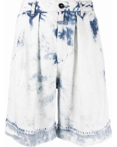 Белые с завышенной талией джинсовые шорты с карманами Closed