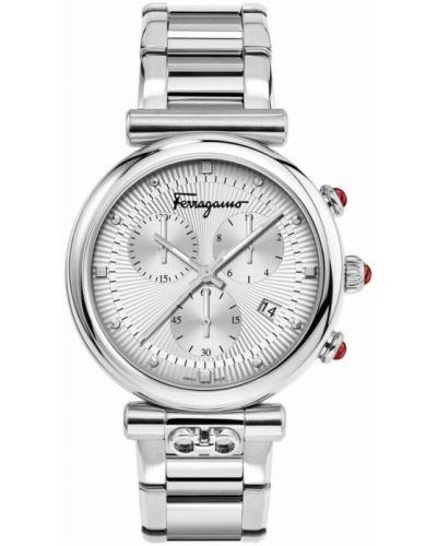 Szary zegarek Salvatore Ferragamo