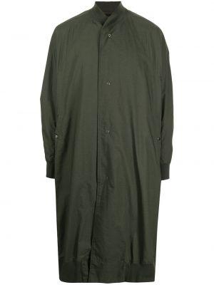 Zielony płaszcz bawełniany Julius