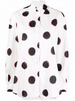 Хлопковая белая классическая рубашка с воротником Stella Jean