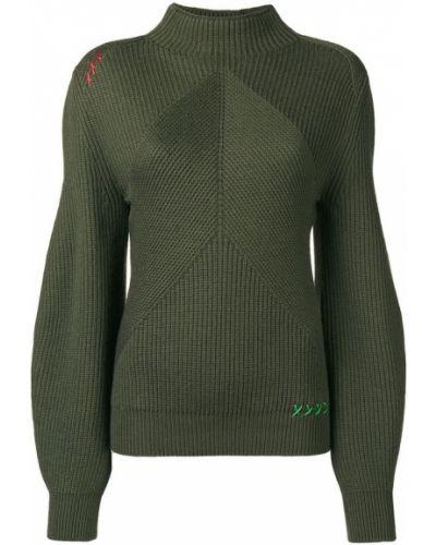 Sweter dzianinowy - zielony Carven