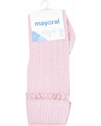 Розовые хлопковые носки Mayoral