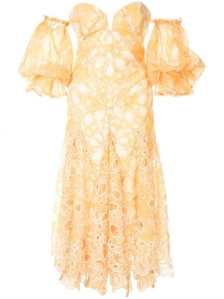 Платье миди на молнии с открытыми плечами Acler