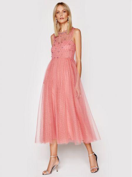 Różowa sukienka koktajlowa Red Valentino