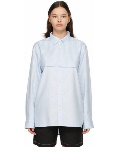Biała koszula bawełniana w paski Ader Error
