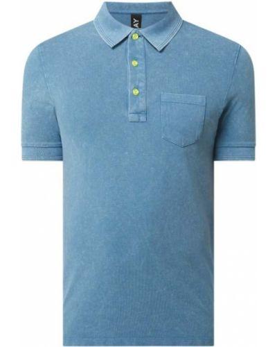 T-shirt bawełniana - turkusowa Replay