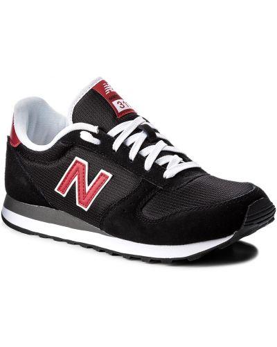 Skórzany sneakersy sztuczna skóra czarny New Balance