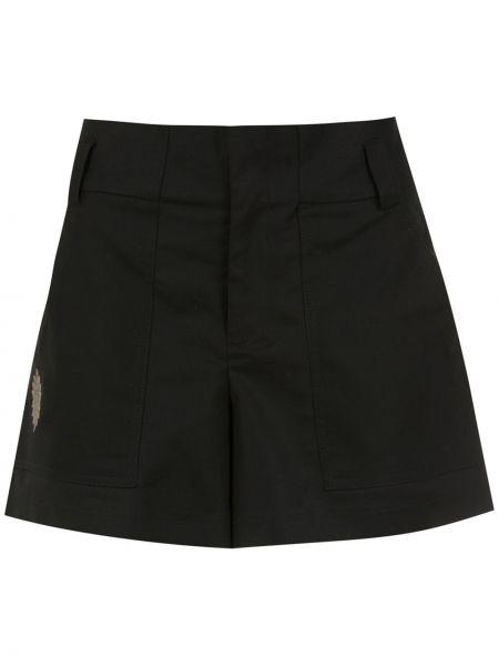Однобортные черные шорты с карманами Martha Medeiros