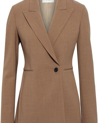 Шерстяной пиджак двубортный с карманами The Row