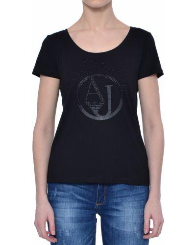 Черная футболка хлопковая Armani Jeans