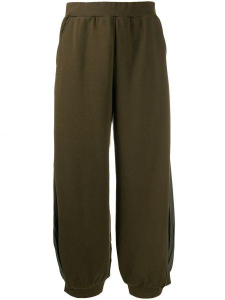 Широкие брюки - зеленые Zucca