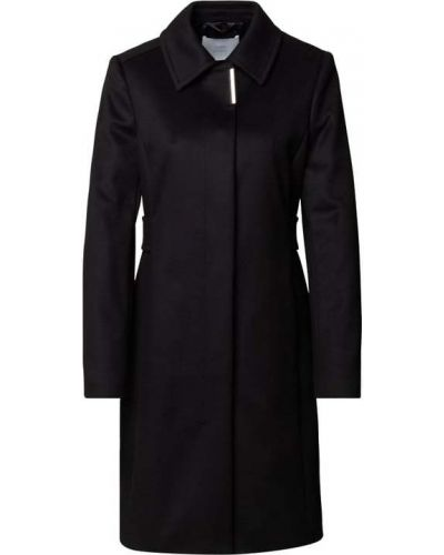 Czarny płaszcz wełniany Boss