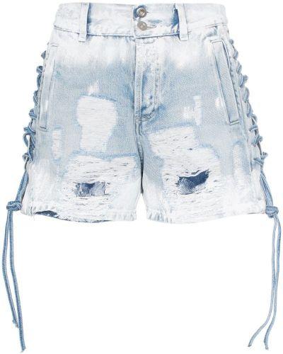 Джинсовые шорты с карманами со стразами на пуговицах Faith Connexion
