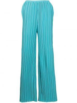 С завышенной талией прямые синие брюки Bambah