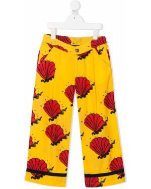 Spodnie z kieszeniami z wzorem Mini Rodini