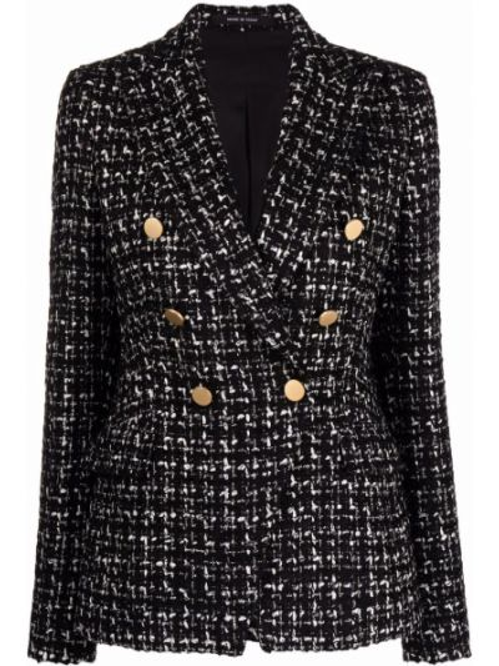 Черный пиджак двубортный Tagliatore