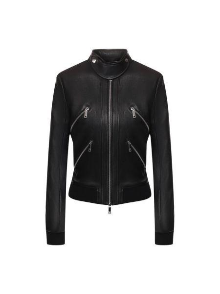 Силиконовая кожаная куртка на молнии с манжетами с подкладкой Jitrois