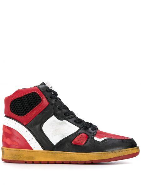 Czarny wysoki sneakersy koronkowy sznurowany Ales Grey