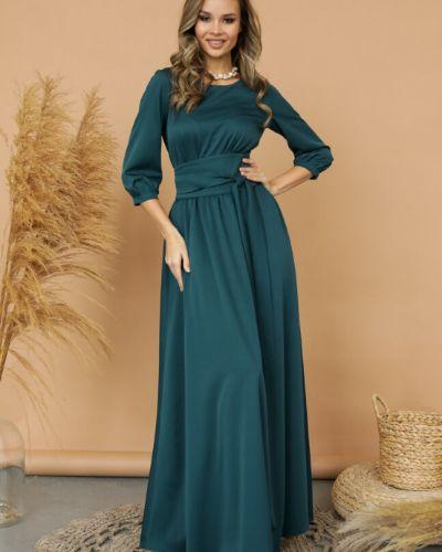 Приталенное с рукавами вечернее платье с поясом Ellcora