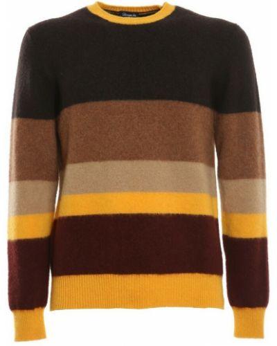 Sweter w paski - pomarańczowy Drumohr