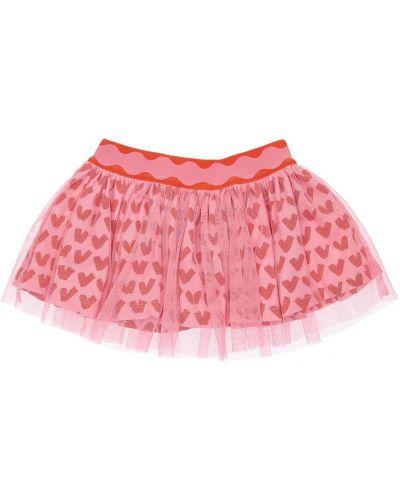 Różowa spódnica tiulowa z printem Stella Mccartney Kids