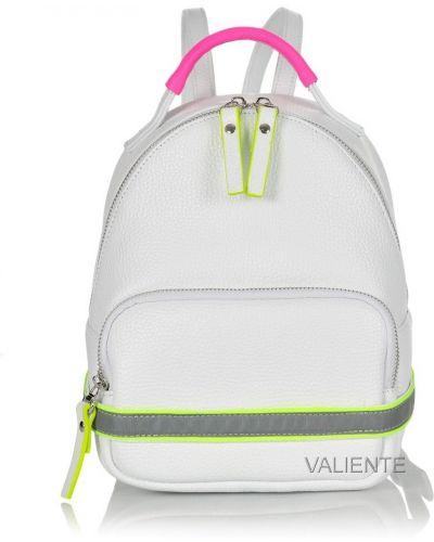 Кожаный рюкзак - белый Valiente