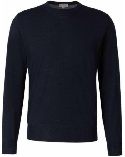Niebieski sweter wełniany Canali
