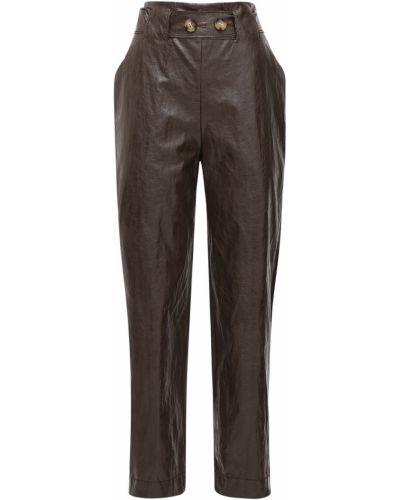 Кожаные коричневые брюки Rejina Pyo