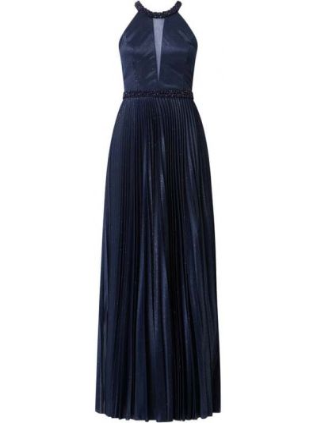 Niebieska sukienka wieczorowa rozkloszowana V.m.