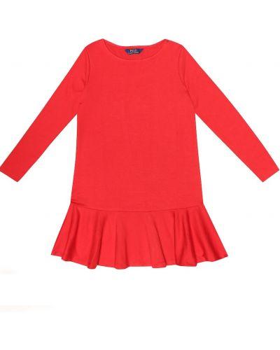 Платье из вискозы стрейч Polo Ralph Lauren Kids