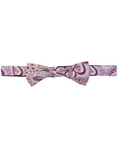 Krawat z printem - fioletowy Boss