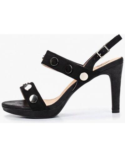 Босоножки черные на каблуке Kylie